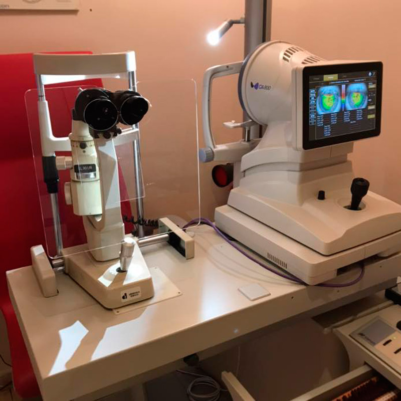 Examen ocular en óptica en Pontevedra García Mazaira