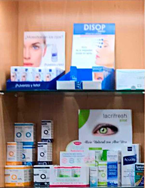Lágrimas artificiales, productos de mantenimiento de lentes de contacto